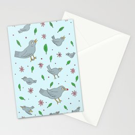 Birds Flowers Leaves & Berries Stationery Cards