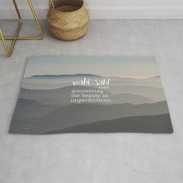 Wabi Sabi Word Nerd Definition - Mountains Rug