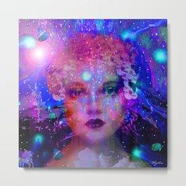 WOMAN IN THE STARS Metal Print