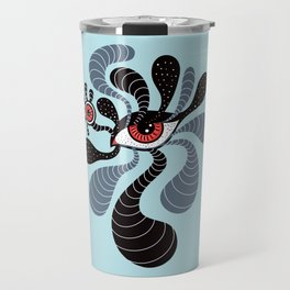 Abstract Surreal Double Red Eye Travel Mug