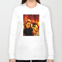 selfie Long Sleeve T-shirts featuring Selfie by Danielle Tanimura