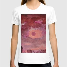 Sun in the Clouds Oil Painting T-shirt