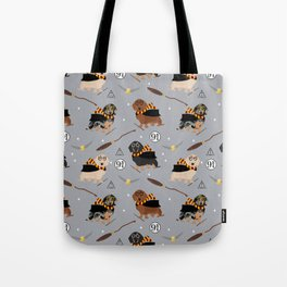 dachshund witch wizard magic wiener dog gifts Tote Bag