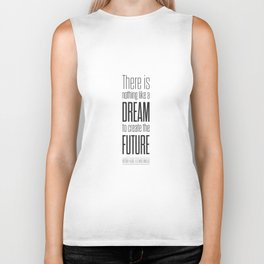 Lab No. 4 - Dream To Create Future Victor Hugo Movie Typography Quotes Poster Biker Tank