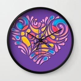 Peace and Love Heart #1 Wall Clock