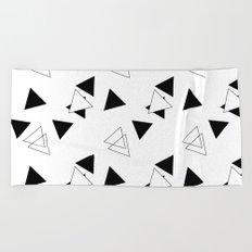 Modern Black Triangles Beach Towel