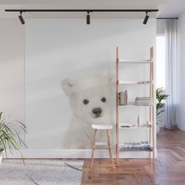 Baby Polar Bear Portrait Wall Mural