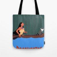 pocahontas Tote Bags featuring Pocahontas by TheWonderlander