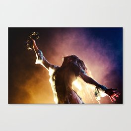 Florence + The Machine Silouette Canvas Print