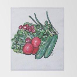 Freshly Uncut Salad Throw Blanket