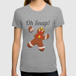 Funny Gingerbread Man Oh Snap Christmas Gift T-shirt
