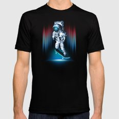 Space Skater Mens Fitted Tee X-LARGE Black