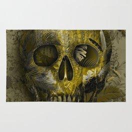 skull gold art decor Rug