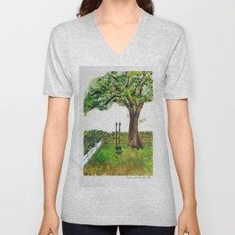 Oak Tree Swing Unisex V-Neck