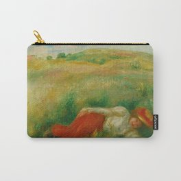 """Auguste Renoir """"Femme couchée dans l'herbe"""" Carry-All Pouch"""