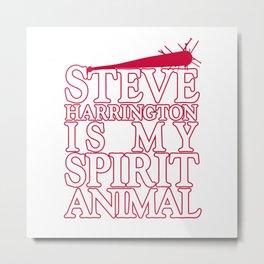 STEVE IS MY SPIRIT ANIMAL STRANGER THING red Metal Print