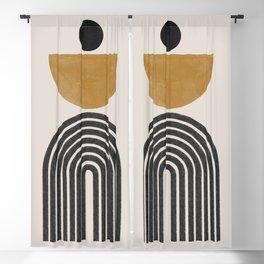 Mid Century Modern Graphic Blackout Curtain