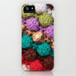 Bobbly colourful knitting iPhone Case