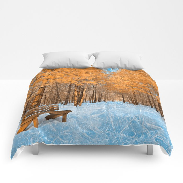 Burning Ice Forest Trail Comforters