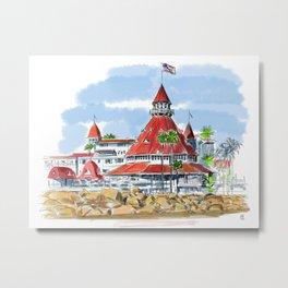 Hotel del Coronado Metal Print