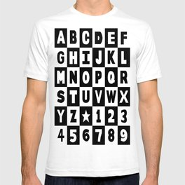 Alphabet Black and White T-shirt