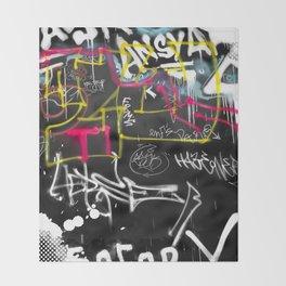 New York Traces - Urban Graffiti Throw Blanket