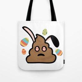 Poop Emoji Easter Bunny Ears Funny Tote Bag