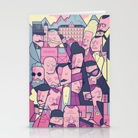 budapest hotel Stationery Cards featuring Grand Hotel by Ale Giorgini