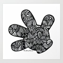 Micky Mouse Hand Art Print