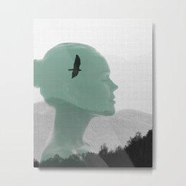 Femme sereine Metal Print