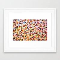 sprinkles Framed Art Prints featuring Sprinkles by Rachel Butler