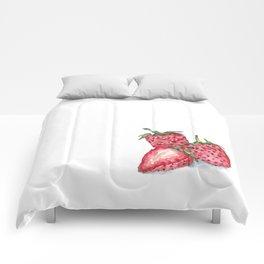 Watercolour Strawberries Comforters