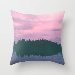 Rose island sunsets Throw Pillow