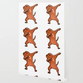 Dabbing Dogue De Bordeaux Dog Dab Dance Wallpaper