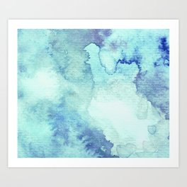 Watercolor pattern turquoise Art Print