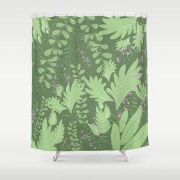 Herbal Jungle Shower Curtain