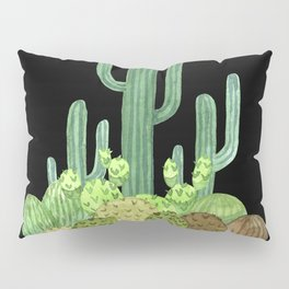 Night Desert Prickly Cactus Bunch Pillow Sham