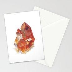 Orange Quartz Cluster Stationery Cards