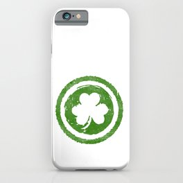 St Patrick Day Irish Cloverleaf lucky clover gift iPhone Case