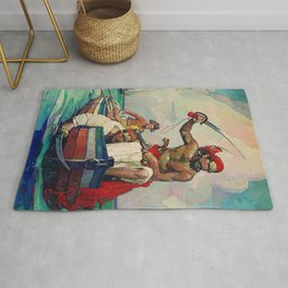 """""""Pirates""""Painting by Frank Earle Schoonover Rug"""
