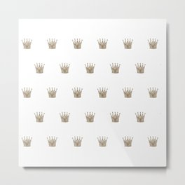 Vintage Crown Pattern Metal Print