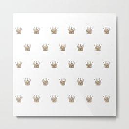 Vintage Crown Pattern Metal Print