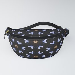 Neon Blue And Orange Stars And Shapes Pattern Fanny Pack