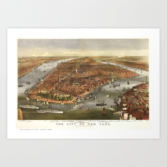 New York 1870 Art Print