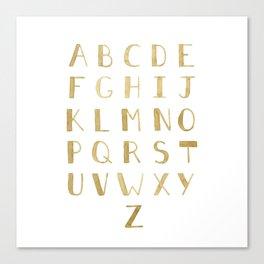 Fawn Uppercase ABCs Canvas Print