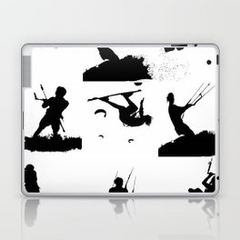 Wakeboarder Silhouette Collage Laptop & iPad Skin