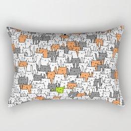 Bunny among cats Rectangular Pillow