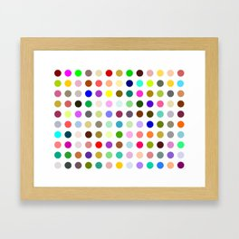 Magic dots Framed Art Print
