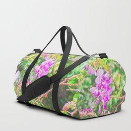 Little Purple Flowers Duffle Bag