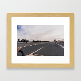 North of the Flightline  Framed Art Print